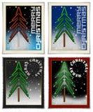 wesoło Boże Narodzenie znaczki Ilustracji