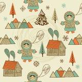 wesoło Bożego Narodzenia eskimo royalty ilustracja