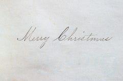 wesoło Bożego Narodzenia pismo obraz stock