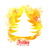 Wesoło bożych narodzeń świętowanie z Xmas drzewem Zdjęcie Stock