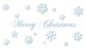 Wesoło bożych narodzeń Biali Śnieżni płatki na bielu royalty ilustracja