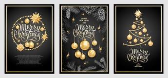 Wesoło bożych narodzeń dekoracja 2019 ilustracji