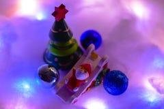 Wesoło bożych narodzeń dekoracja i szczęśliwy nowy rok obraz stock