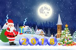 Wesoło Bożych Narodzeń Drewniany Znak Zdjęcia Stock