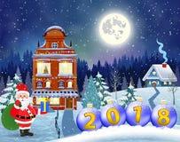 Wesoło Bożych Narodzeń Drewniany Znak Fotografia Royalty Free