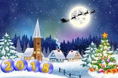 Wesoło Bożych Narodzeń Drewniany Znak Obraz Royalty Free