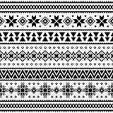 Wesoło bożych narodzeń etniczny wzór plemienny xmas wydarzenia projekta ilustracji wektor boże narodzenie lampasów projekt ilustracji