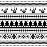 Wesoło bożych narodzeń etniczny wzór plemienny xmas wydarzenia projekta ilustracji wektor boże narodzenie lampasów projekt royalty ilustracja