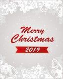 Wesoło bożych narodzeń i nowego roku wektoru karta Żniwa fest projekt doskonalić dla druków, ulotki, sztandary, zaproszenia, prom ilustracja wektor