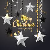 Wesoło bożych narodzeń i 2018 nowy rok tło dla wakacyjnego kartka z pozdrowieniami, zaproszenie, partyjna ulotka, plakat, sztanda Obraz Stock