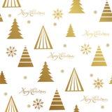 Wesoło bożych narodzeń i Szczęśliwego nowego roku literowania złoty wzór również zwrócić corel ilustracji wektora royalty ilustracja