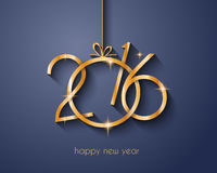 2016 Wesoło bożych narodzeń i Szczęśliwego nowego roku tło royalty ilustracja