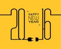 2016 Wesoło bożych narodzeń i Szczęśliwego nowego roku tło dla twój obiadowych zaproszeń Zdjęcie Royalty Free