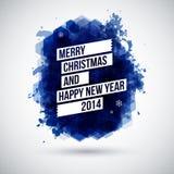Wesoło bożych narodzeń i Szczęśliwego nowego roku typograficzny nagłówek. Obrazy Stock