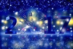 2017 Wesoło bożych narodzeń i Szczęśliwego nowy rok Zdjęcia Royalty Free