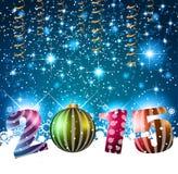 2015 Wesoło bożych narodzeń i Szczęśliwej nowy rok ulotka Zdjęcie Stock