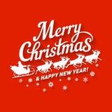 Wesoło Bożych Narodzeń ikona Fotografia Royalty Free