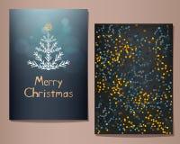 Wesoło bożych narodzeń kartka z pozdrowieniami ustawiający również zwrócić corel ilustracji wektora Obrazy Stock