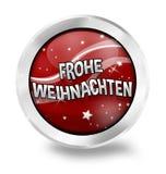 Wesoło bożych narodzeń Niemiecki język Obraz Stock