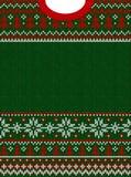 Wesoło bożych narodzeń nowego roku kartka z pozdrowieniami ramy scandinavian Szczęśliwi ornamenty royalty ilustracja
