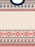 Wesoło bożych narodzeń nowego roku kartka z pozdrowieniami ramy scandinavian Szczęśliwi ornamenty zdjęcia stock