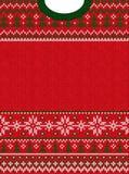Wesoło bożych narodzeń nowego roku kartka z pozdrowieniami ramy scandinavian Szczęśliwi ornamenty ilustracja wektor