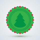 Wesoło Bożych Narodzeń Odznaka Obraz Royalty Free