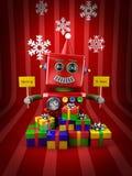 Wesoło Bożych Narodzeń Robot Obraz Stock