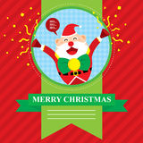 Wesoło bożych narodzeń Santa klauzula Royalty Ilustracja