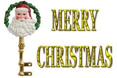 Wesoło bożych narodzeń Santa klucza dekoracja Obrazy Royalty Free