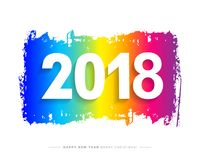 2018 Wesoło bożych narodzeń, Szczęśliwej nowy rok karta i tło lub Obrazy Stock