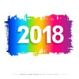2018 Wesoło bożych narodzeń, Szczęśliwej nowy rok karta i tło lub Zdjęcie Royalty Free