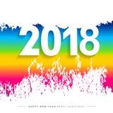 2018 Wesoło bożych narodzeń, Szczęśliwej nowy rok karta i tło lub Obrazy Royalty Free