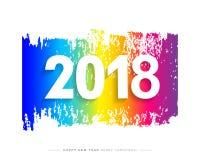 2018 Wesoło bożych narodzeń, Szczęśliwej nowy rok karta i tło lub Zdjęcie Stock