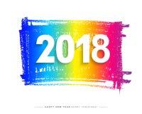 2018 Wesoło bożych narodzeń, Szczęśliwej nowy rok karta i tło lub Fotografia Stock