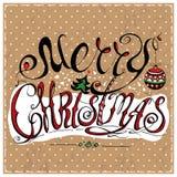 Wesoło Bożych Narodzeń target682_1_ royalty ilustracja