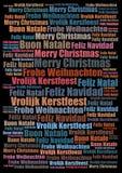Wesoło bożych narodzeń wakacje tło ilustracja wektor