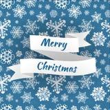 Wesoło bożych narodzeń wektoru karta z płatkami śniegu Fotografia Royalty Free