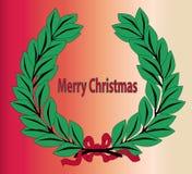 Wesoło Bożych Narodzeń Wianek Fotografia Stock