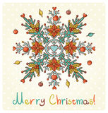 Wesoło Bożych Narodzeń zaproszenia karta Obraz Royalty Free