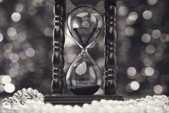 Wesoło bożych narodzeń zegarowy tło Zdjęcia Stock