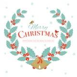 Wesoło bożych narodzeń zimy tła projekt Xmas dekoracje i c ilustracji