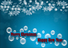Wesoło chirstmas i szczęśliwy nowy rok Zdjęcia Stock