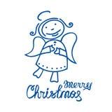 Wesoło christmas-21 royalty ilustracja