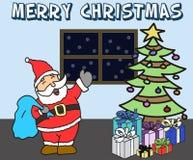 Wesoło kartka bożonarodzeniowa ilustracja wektor