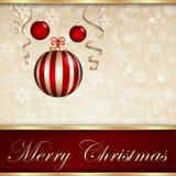 Wesoło Kartka Bożonarodzeniowa Zdjęcie Royalty Free