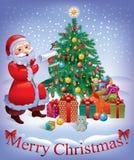 Wesoło Kartka bożonarodzeniowa Fotografia Stock