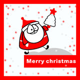 Wesoło kartka bożonarodzeniowa. Fotografia Royalty Free
