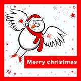 Wesoło kartka bożonarodzeniowa. Zdjęcie Stock