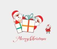 Wesoło kartka bożonarodzeniowa Zdjęcia Stock